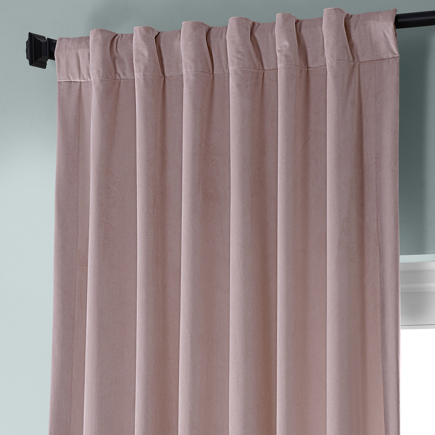 Ballet Pink Plush Velvet Curtain