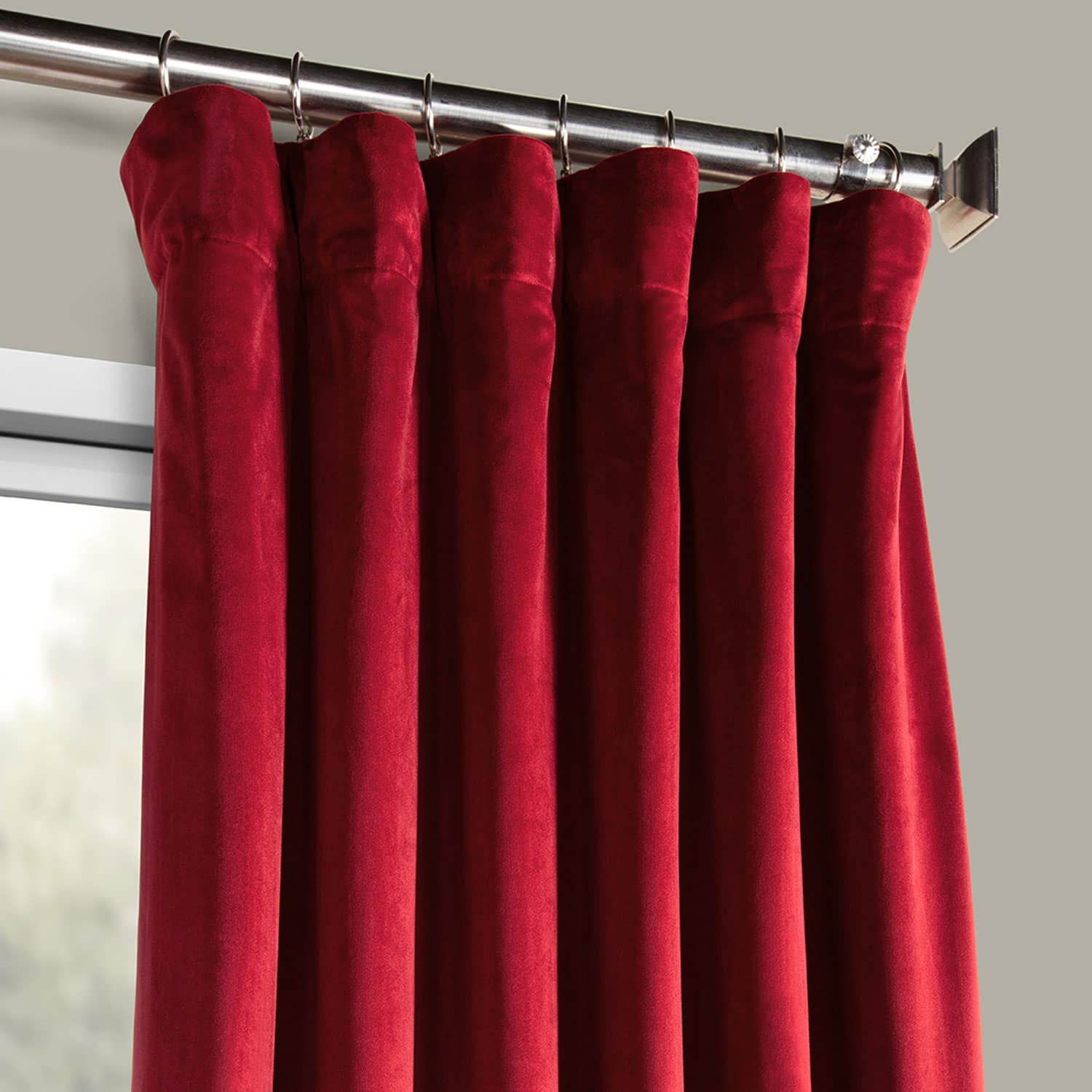 Cinema Red Heritage Plush Velvet Curtain