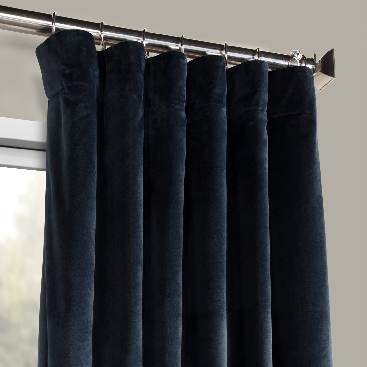 Eternal Blue Heritage Plush Velvet Curtain