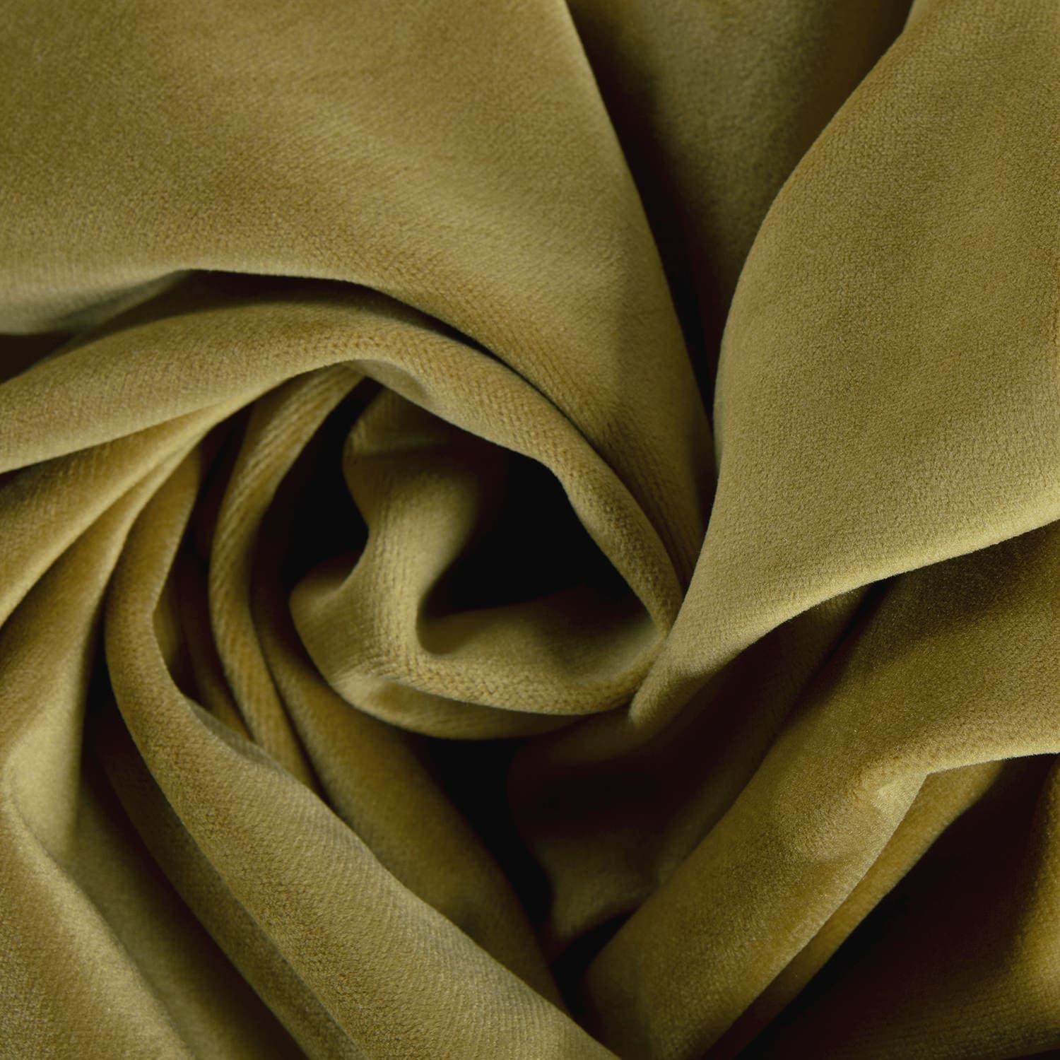 Peat Green Heritage Plush Velvet Fabric