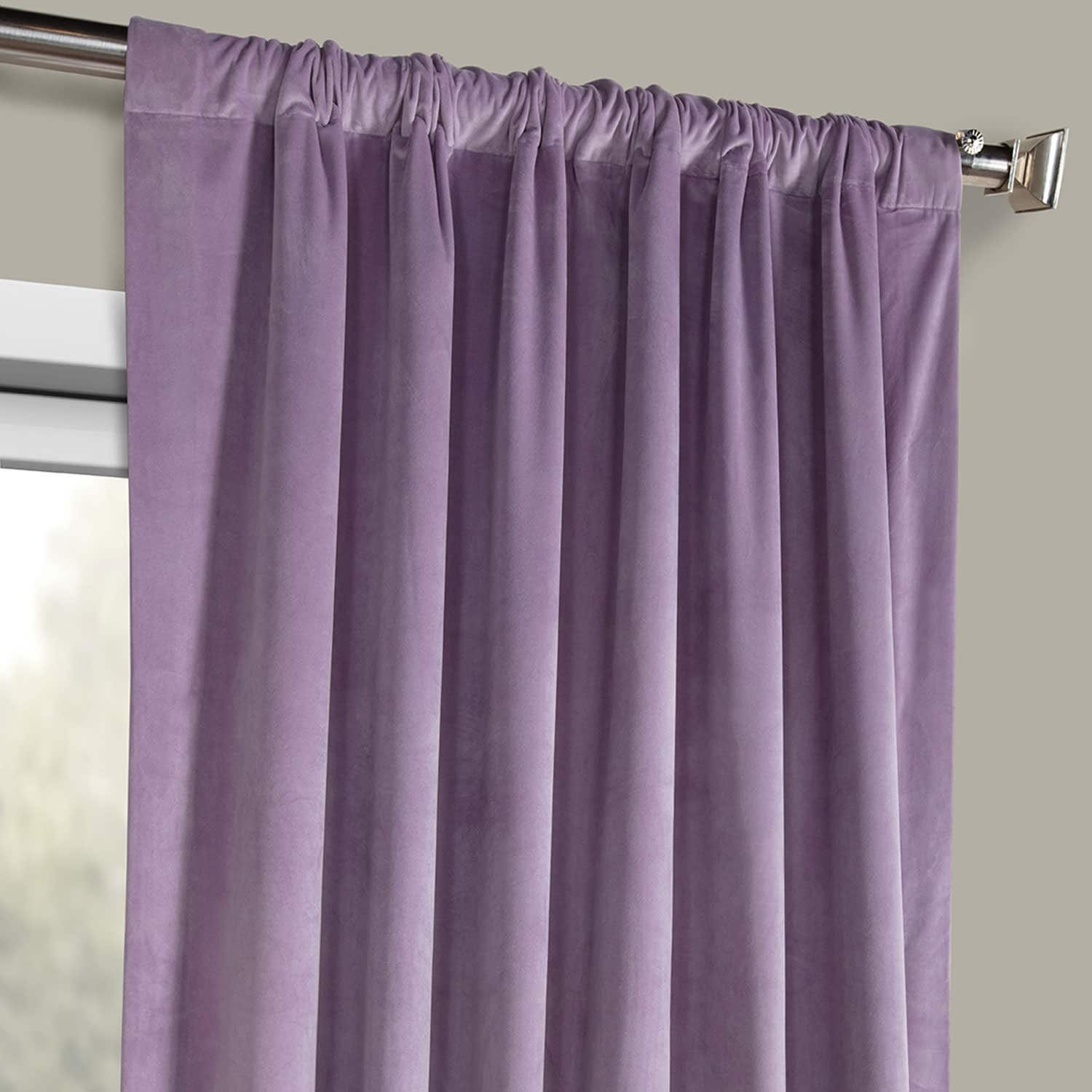 Hyacinth Heritage Plush Velvet Curtain