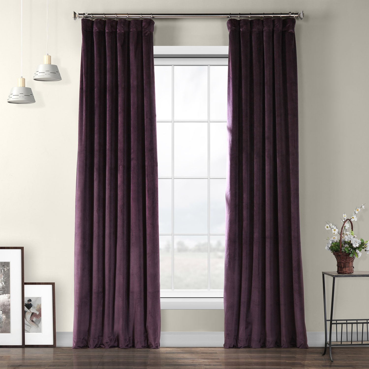 Omega Purple Heritage Plush Velvet Curtain