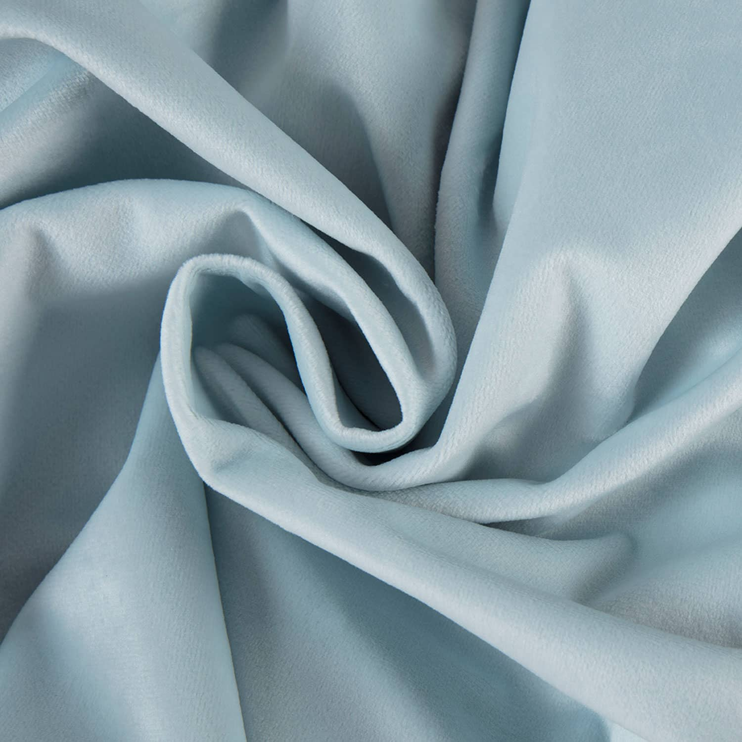 Aquarius Blue Heritage Plush Velvet Fabric