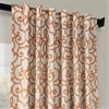 Nouveau Tan Blackout Room Darkening Curtain