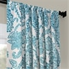 Tea Time Teal Blackout Room Darkening Curtain