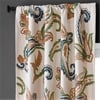 Laurel Embroidered Cotton Crewel Curtain