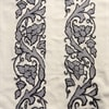Florence Grey Embroidered Cotton Crewel Fabric