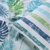 Tiki Teal Cotton Percale Printed Reversible Duvet Cover Set