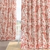 Edina Washed Rust Printed Cotton Curtain