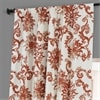 Indonesian Rust Printed Cotton Hotel Blackout Curtain