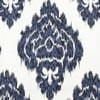 Ikat Blue Printed Cotton Cushion Covers - Pair