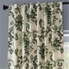 Indonesian Green Printed Cotton Twill Curtain