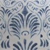 Xenia Blue Printed Faux Linen Sheer Swatch