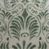 Xenia Green Printed Faux Linen Sheer Fabric