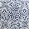 Mardi Gras Blue Printed Faux Linen Sheer Swatch