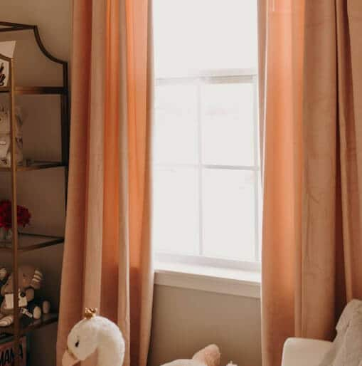 Ballet Pink Plush Velvet Curtains