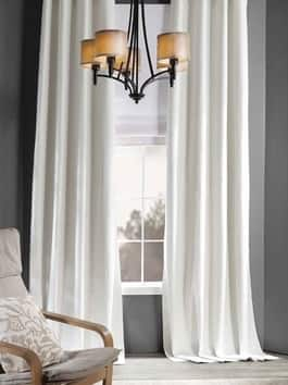 Thermal Cross Linen Weave Blackout Curtain
