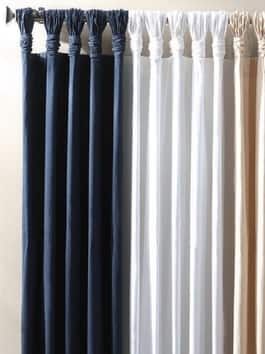 Deluxe Tab Top Solid Cotton Curtains