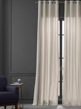 Dune Textured Solid Cotton Curtain Pair