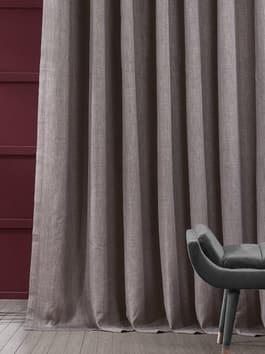 Extra Wide Faux Linen Blackout Curtains