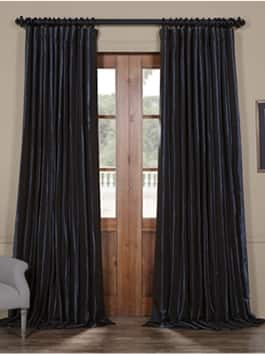 Extra Wide Signature Faux Silk Curtains