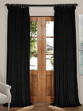 Extra Wide Velvet Curtains