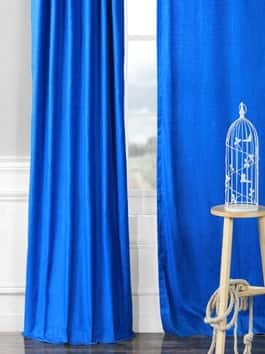 Faux Dupioni Shantung Silk Curtains