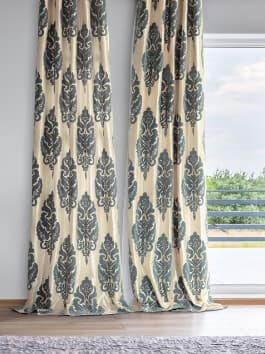 Designer Flocked Curtains