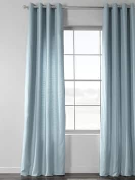 Grommet Cotton & Linen Curtains