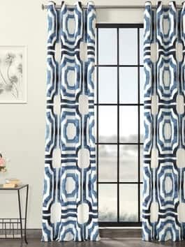Grommet Printed Cotton Curtains