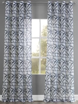 Grommet Printed Sheer Curtains