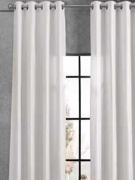 Grommet Signature Faux Silk Curtains
