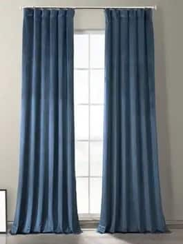 Plush Velvet Hotel Blackout Curtains