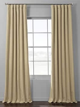 Textured Faux Linen Hotel Blackout Curtains