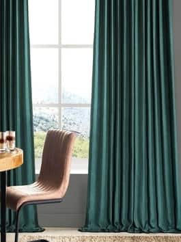 Linen Textured Blackout Curtains