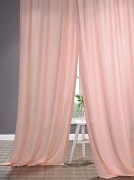 Linen Textured Semi Sheer Curtains