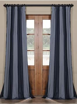 Luxury Faux Silk Stripe Curtain