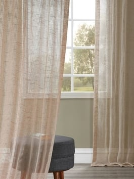 Open Weave Linen Blend Sheer Curtains