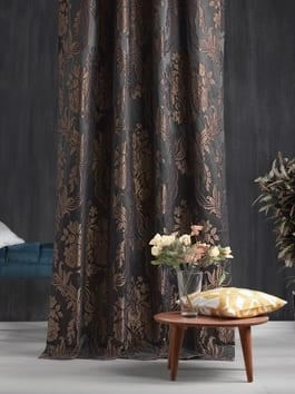 Pattern and Printed Faux Silk Curtains