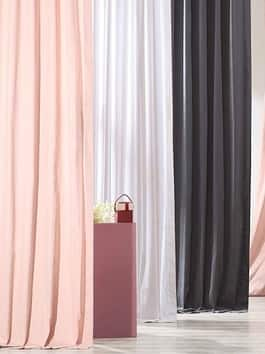 Solid Patterned Cotton Curtains