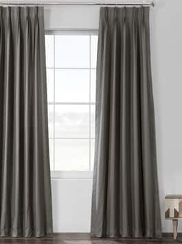 Pleated Solid Cotton Curtains