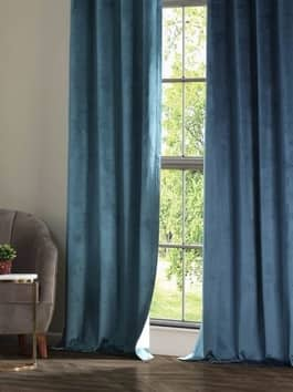 Coated Plush Velvet Hotel Blackout Curtains