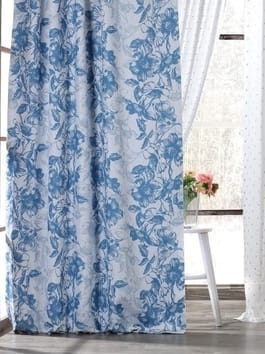 Printed Blackout Room Darkening Curtains