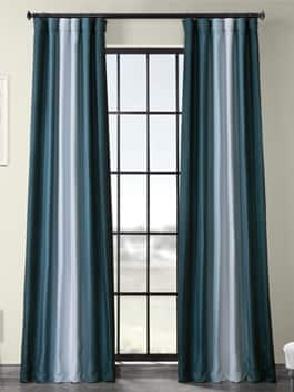 Printed Linen Textured Blackout Curtains