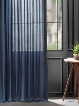 Solid Classic Cotton Semi Sheer Curtains