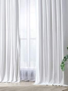 Solid Cotton Hotel Blackout Curtains