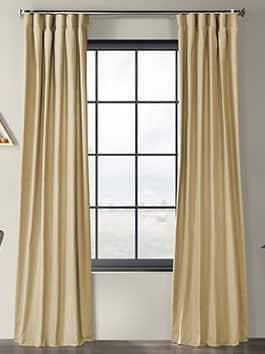 Country Cotton Linen Weave Curtains