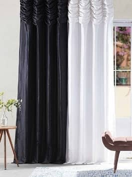 Solid Pattern Faux Silk Curtains