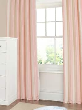 Designer Striped Faux Silk Curtains