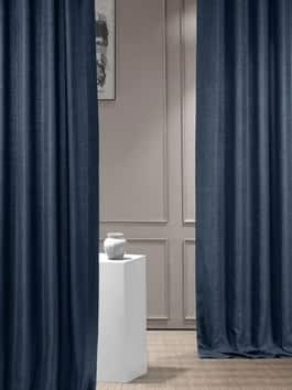 Italian Textured Faux Linen Curtains